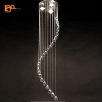 spiral design modern home crystal chandelier lamp