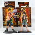 Japan Anime One Piece Monkey . D . Luffy Portagas D Ace PVC Figures Action Figures Set Toys Gifts