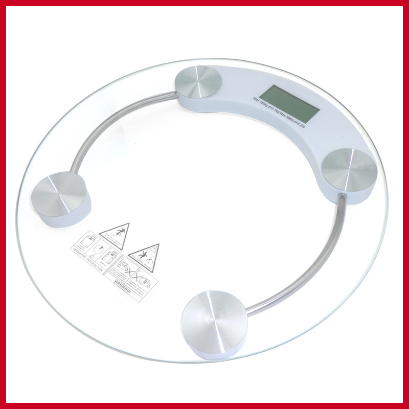 1Pc 2016 Top Sale 180kg diameter 26cm Home Bathroom Health Digital Electronic Glass LCD Weighing Body Scale