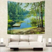 Polyester Forest Tree Tapestry 150X130cm Wall Hanging Throw Mat Blanket Home Room Art Wall Decor Beach Towel Picnic Cloth WE недорго, оригинальная цена