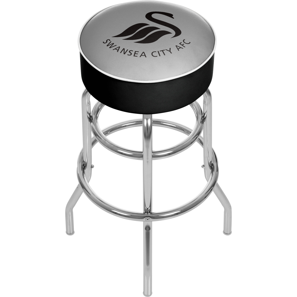 Premier League Swansea City Padded Swivel Bar Stool 30 Inches High premier league liverpool football club chrome 42 inch pub table