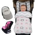 Novo Outono Inverno Saco de Dormir Do Bebê Engrossar saco de Dormir Do Bebê saco de dormir carrinho de bebê Footmuff Quente assento da segurança do bebê sleepsack