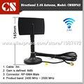 Envío Libre 8dBi 2.4G wifi cable de extensión de antena con base magnética, Red Inalámbrica Wifi Antena, RP SMA Macho 3 M