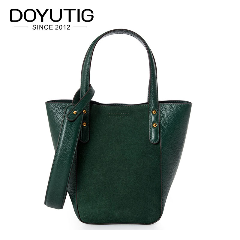 DOYUTIG European Style Womens Luxury Genuine Leather Hobos Handbags Female Real Nubuck Leather Shoulder Bags Fashion Totes F631DOYUTIG European Style Womens Luxury Genuine Leather Hobos Handbags Female Real Nubuck Leather Shoulder Bags Fashion Totes F631