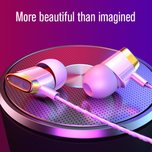 New High-End Colorful 3.5mm In-Ear Wired Earphone HD Stereo Noise Canceling Headphones With Mic Beautiful Fashion Music Headset