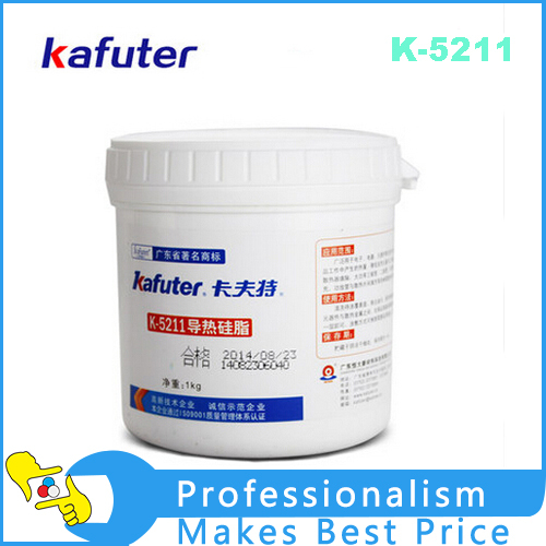Kafuter K-5211 1KG/barrel good insulation adhesive thermal grease Silicone Rubber Adhesive cylinder pressure barrel dispensing piston 304 stainless steel barrel component adhesive glue adhesive glue high viscosity