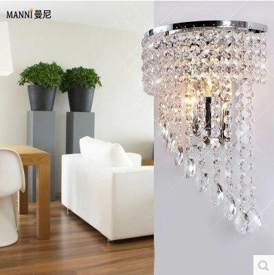 Блеск бра современные светодиодные кристалл настенный светильник лампа с 2 лампы для дома Освещение Нержавеющаясталь покрытие