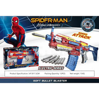 2 styles Fun Spider Man Soft Bullet Guns Toy Kids Bursts of Gun Toy Shooting Weapon Pistol Sniper Rifle Children Gift