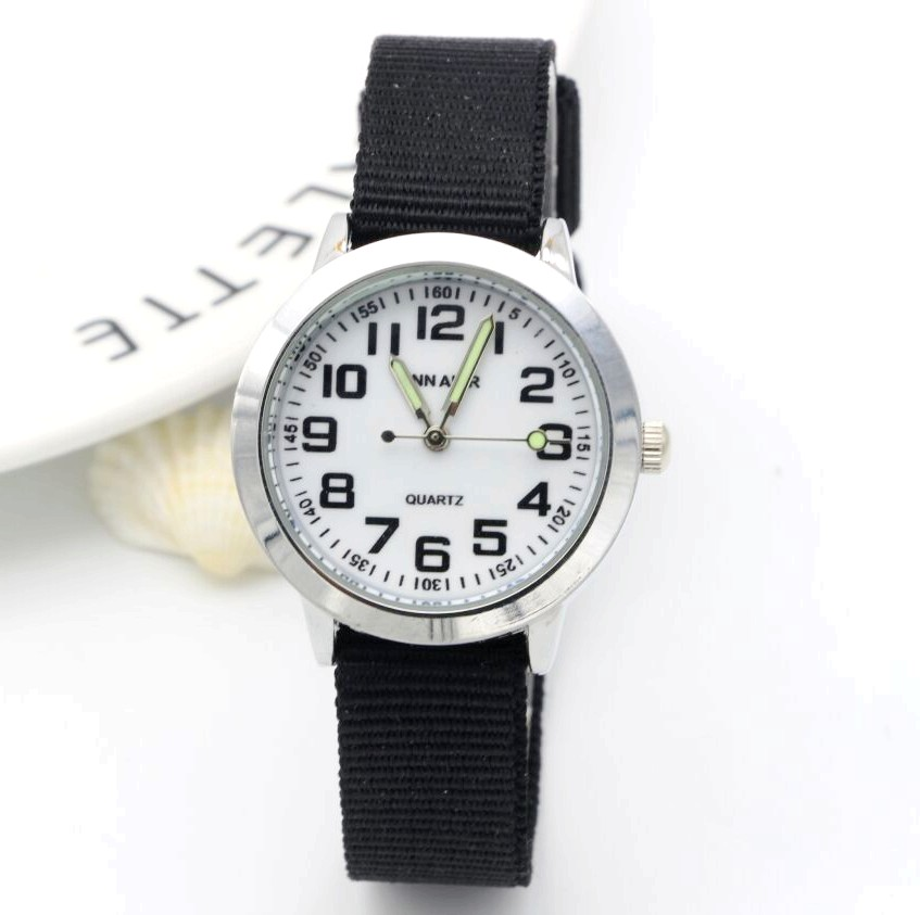 Simple Design Boys And Girls Learn To Time Number Quartz Watch Kids Luminous Hands Tutor Nylon Sports Gift Dibujos De Reloj