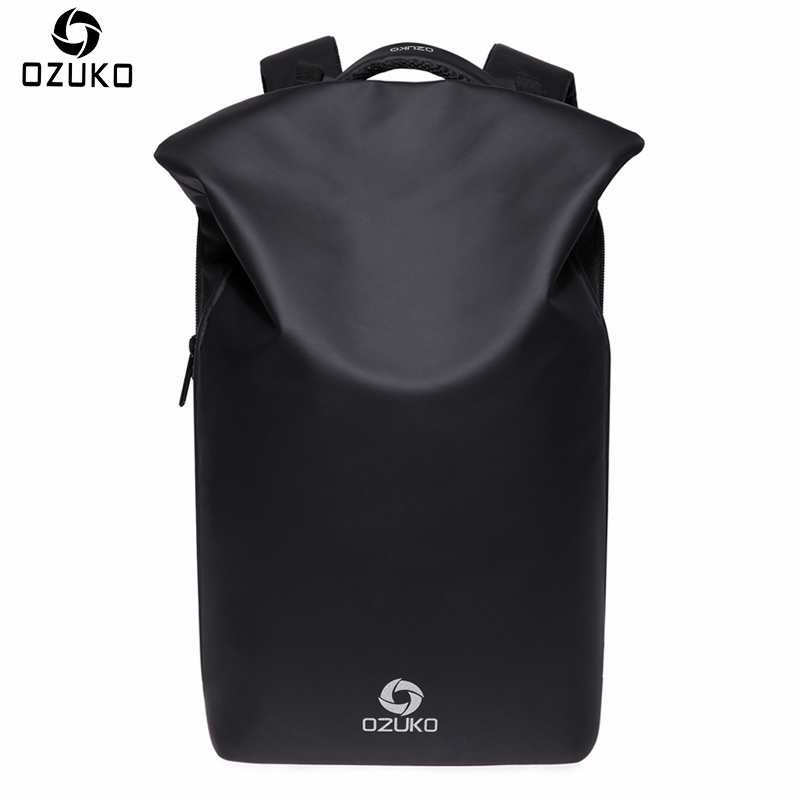 OZUKO New Design Waterproof Men Backpacks Anti theft USB Charge Creative Casual Travel Bag Multifunctional 15.6 Laptop Backpack
