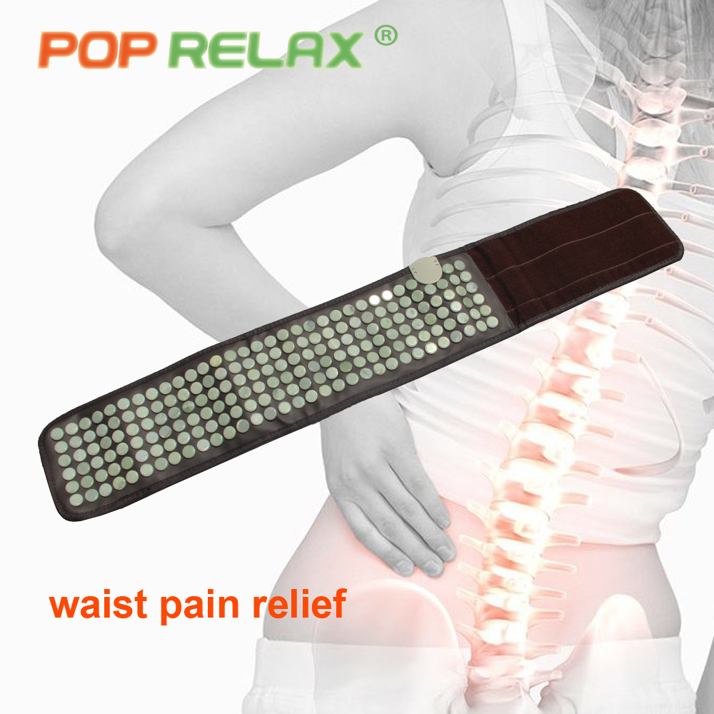 POP RELAX jade stone massage belt health care thermotherapy far infrared electric waist pain relief jade massage massager belt pop relax tourmaline germanium waist belt far infrared physical heating therapy back pain relief health care stone massage belt
