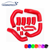 HOSINGTECH for Nissan GT R R35 09 17 Silicone Boost Hose Kit 12pcs red