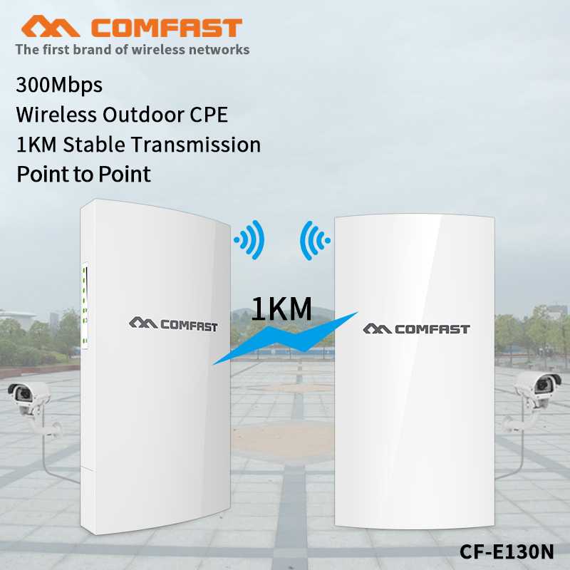 1KM 300Mbps 2.4G Outdoor Mini Wireless AP Bridge WIFI CPE Access Point wifi repeater 5dBi WI FI Antenna Nanostation CPE CF E130N|Wireless Routers| |  - title=