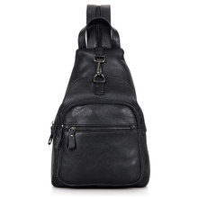 Mens Classic Style Black Chest Bag High Quality Messenger Vintage Shoulder 4005A