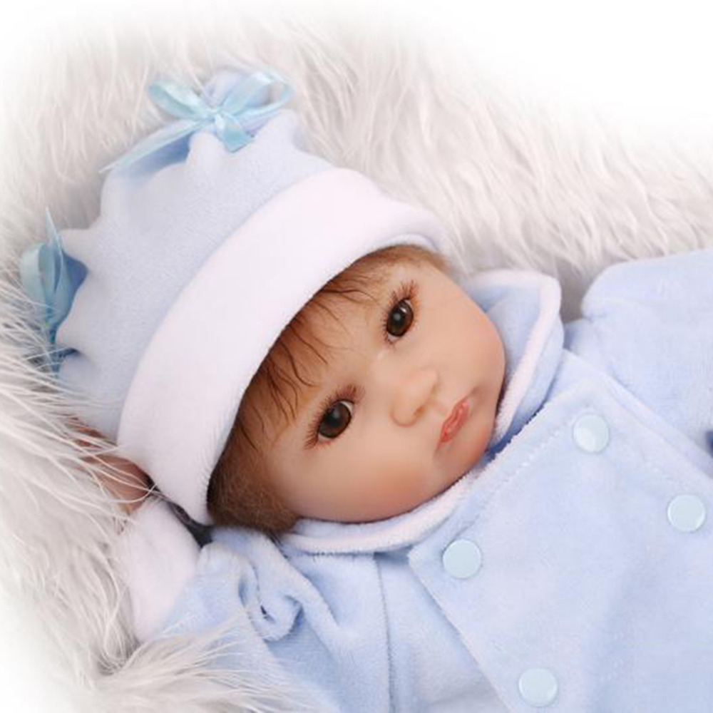 MINOCOOL Classic 40CM Princess Girl Doll Handmade Full Silicone Vinyl Reborn Baby Doll With Pacifier Bottle Accessories for Kids