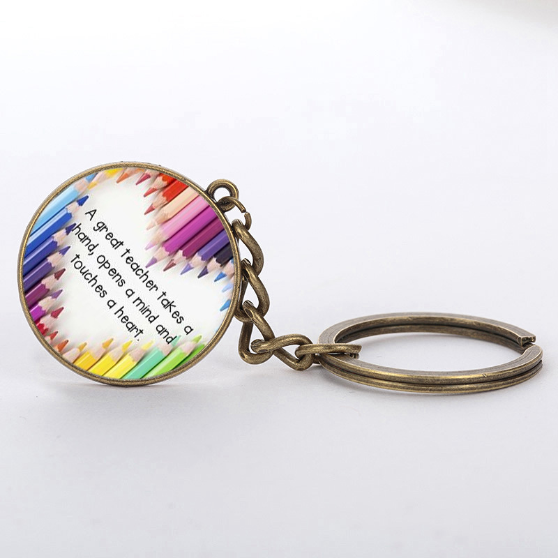 SUTEYI Hot teachers gift sale Merci Maitresse exquisite keychain in hand I am a granny t ...