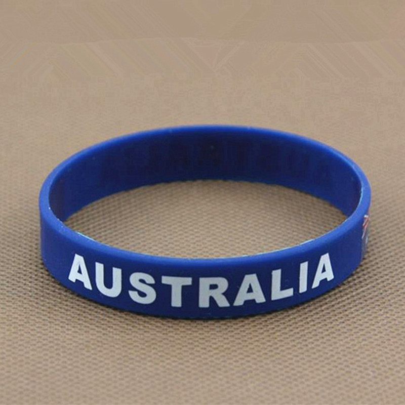Aliexpress 2pcs Australia Flag Sport Silicone Wristbands Elastic Hologram Bracelet Wrist Band Rubber Men Bangle Accessories Gifts From