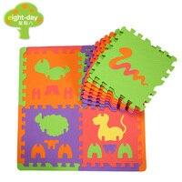 Eight Day 3D Animals Foam Mat Children Crawling Mats 3D Puzzle Mats Kids Play Mat Kindergarte