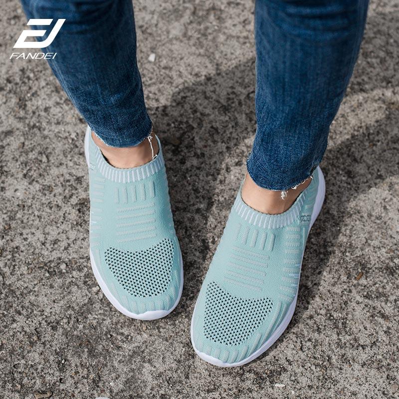 FANDEI Femmes Sneakers chaussures de course Pour Femmes Sports de Plein Air Slip-on chaussures de marche D'été Respirant Maille Pour Confortable Sport
