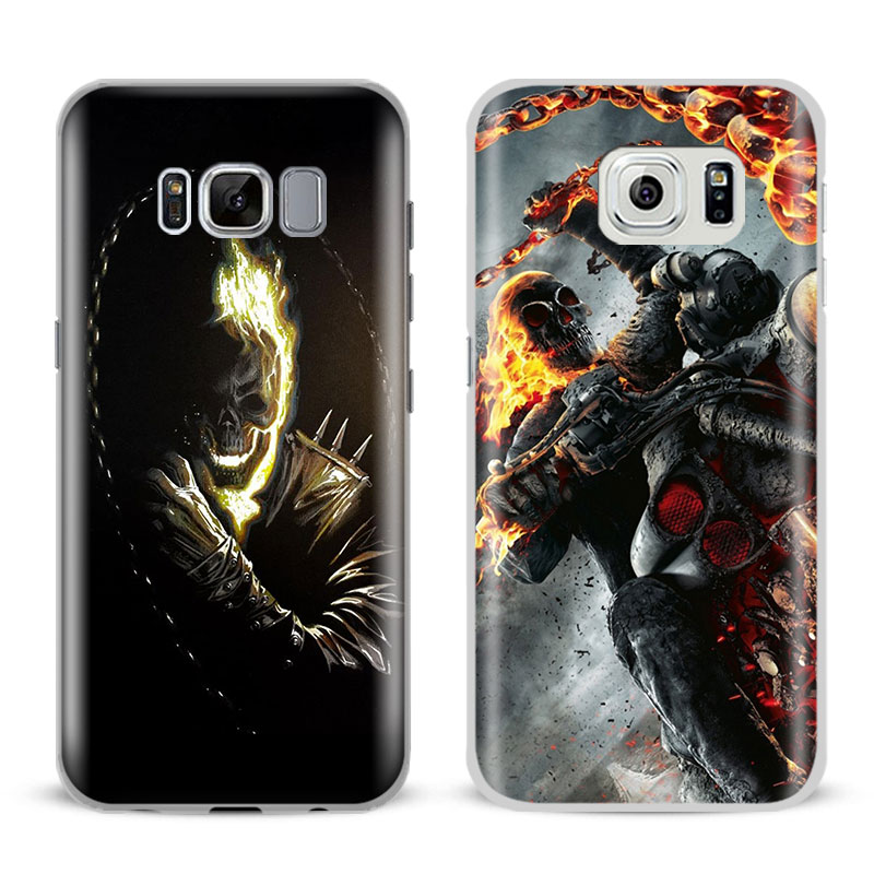 Ghost Rider Coque Mobile Phone Case Shell Cover Bag For Samsung Galaxy S4 S5 S6 S7 Edge S8 Plus Note 2 3 4 5 A5 A710 J5 J7 2017