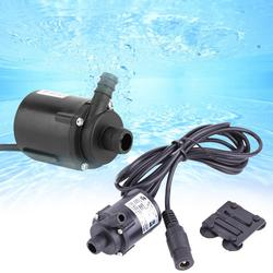 Dc 6 v 12 v micro bomba de água submersível sem escova f refrigerar solar 200l/h bomba de circulação de água elétrica para a lagoa do aquário