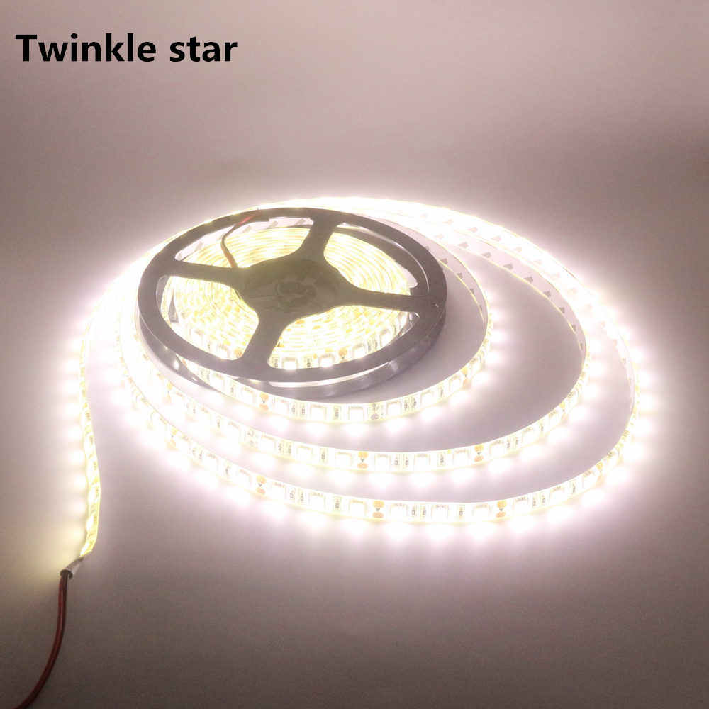 Led streifen licht smd 5050 4000 k 300led 5 m wasserdicht ip65 dc 12 v kühlen natur weiß flexible led band seil dropshipping