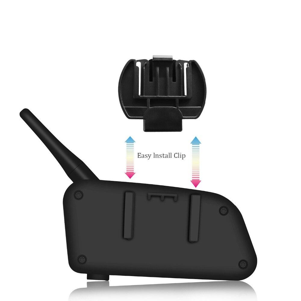 EJEAS casque interphone Moto casque Comunicador Moto interphone casques haut-parleur sans fil Bluetooth parler portée dans 1200 m - 2