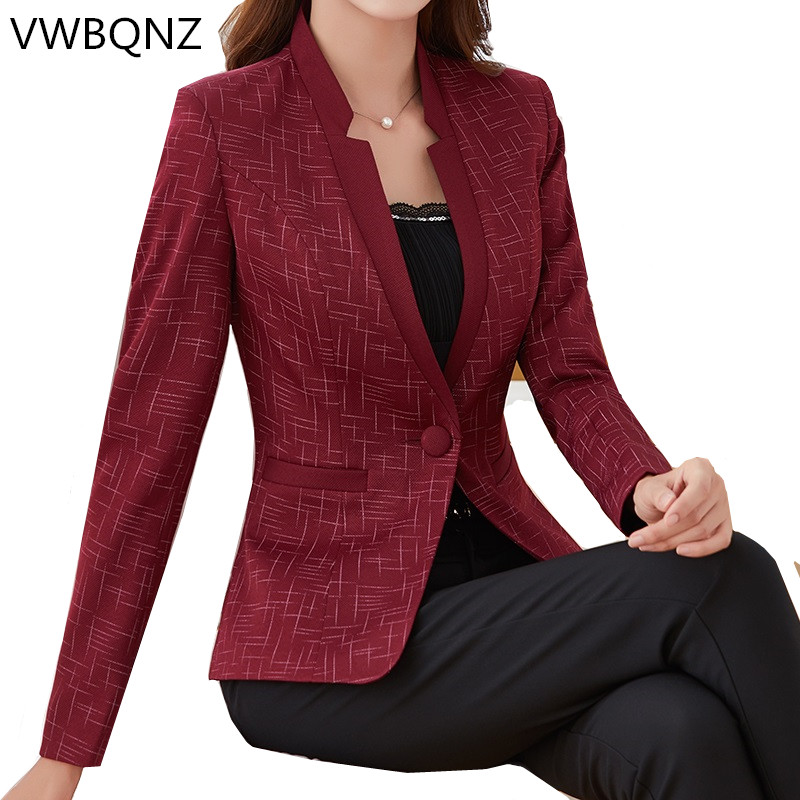 2020 Plus Size Womens Business Suits Spring Autumn All-match Women Blazers Jackets High Quality Short Slim Blazer Women Suit 5XL