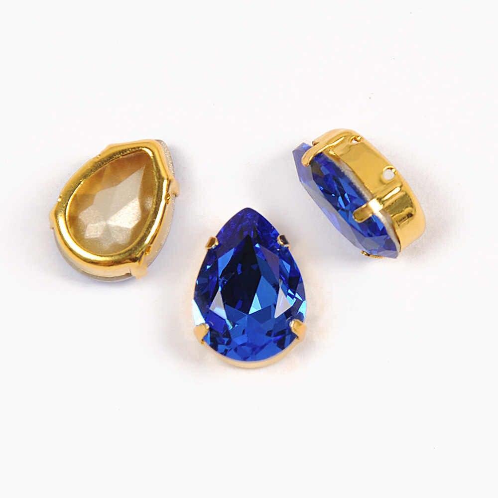 Yanruo каплевидный сапфир Необычные коготь стразы украшения алмазные блестящие камни Кристаллы для рукоделия сшитые на одежде Декор