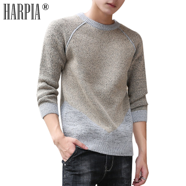63250ad736f63 HARPIA autumn winter men s casual sweater male O-neck pullover men sweaters  fashion long-