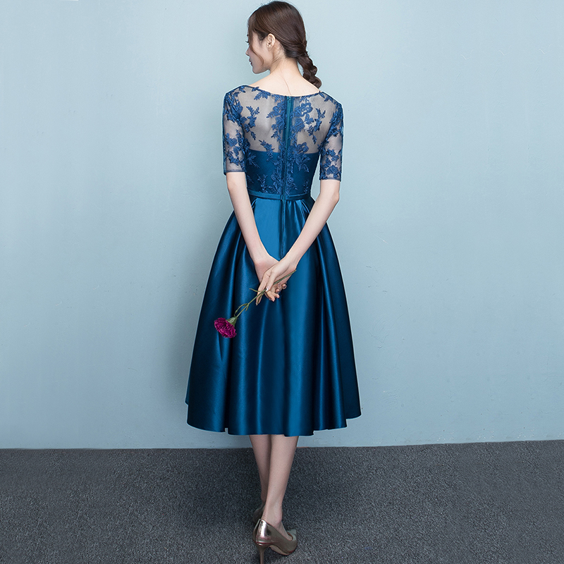 b27888c3be DongCMY New Arrival 2019 Short bule Color Prom dress Elegant Party ...