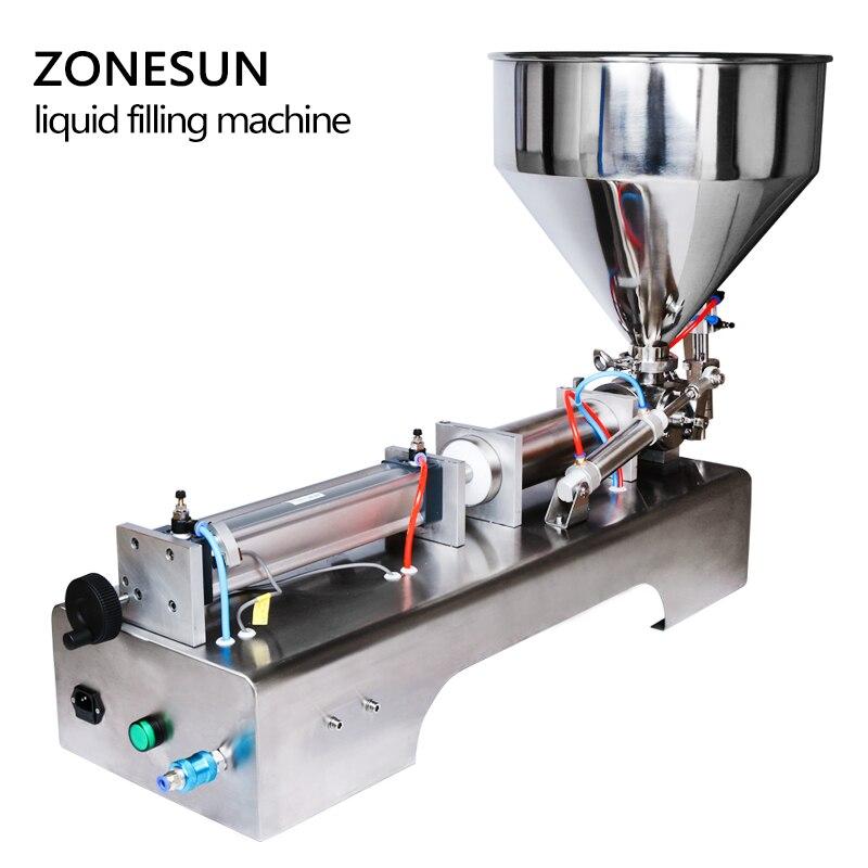 Image 3 - ZONESUN 10 300ml Pneumatic Volumetric Softdrin Liquid Filling Machine Pneumatic Liquid Filler Liquid Honey Soap  bottlemachine machinemachine fillingmachine for -
