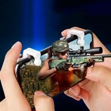 2 unids/lote L1 R1 gatillo para juegos de teléfonos inteligentes controlador de disparo de sujeción con botones de disparo para PUBG/reglas de supervivencia/cuchillos