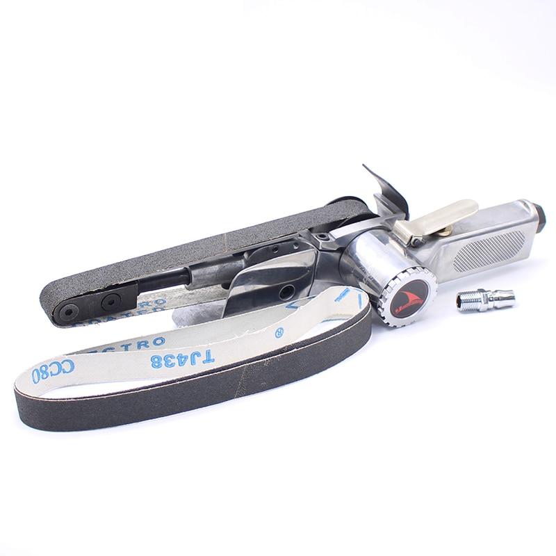 YOUSAILING Quality 20MM*520MM Pneumatic Belt Sander Air Sanding Machine Polisher Tool Abrasive Belt Machines 5 inch air sander pneumatic polishing machine high quality