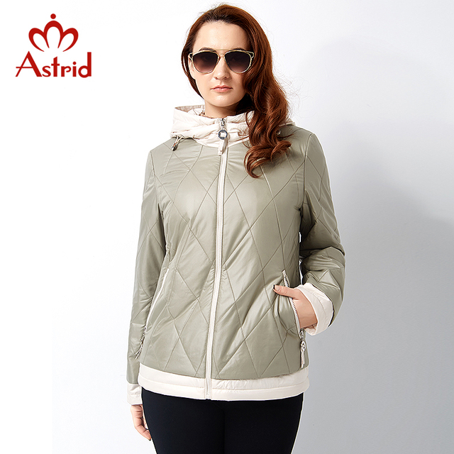 Astrid 2017 New Spring and Autumn Woman Coat Jacket Plus Size Hooded Fashion Jacket Winter Coat Women's Jackets Big Size AM-2810