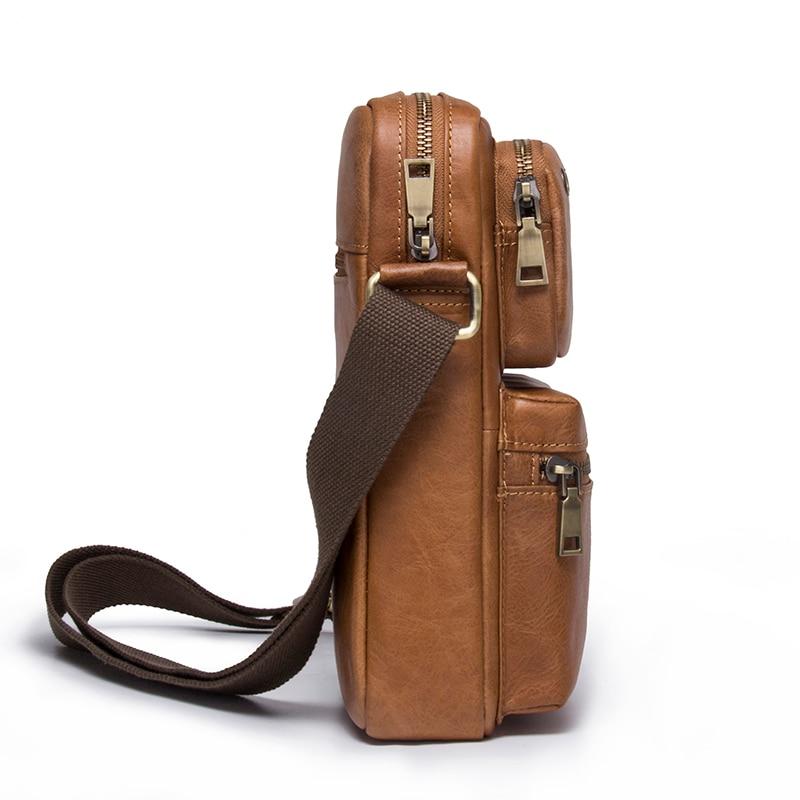 CONTACT'S 2018 nouveauté en cuir de vachette véritable Bolsa sacs à bandoulière pour hommes sacs à bandoulière pour hommes sac Messenger sac de Style masculin - 3