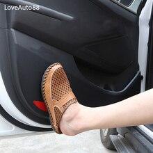 цена на 4Pcs Car Styling Door Leather Protector Pad Anti Kick Pad Anti-dirty Pad Mat Cover Sticker For Hyundai Tucson 2015-2019