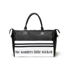 84cf12a7de GYKZ Waterproof Outdoor Travel Handbags Striped Design Sport Gym Bags For  Women   Men Fitness 2018 New Large Duffle Bags HY127