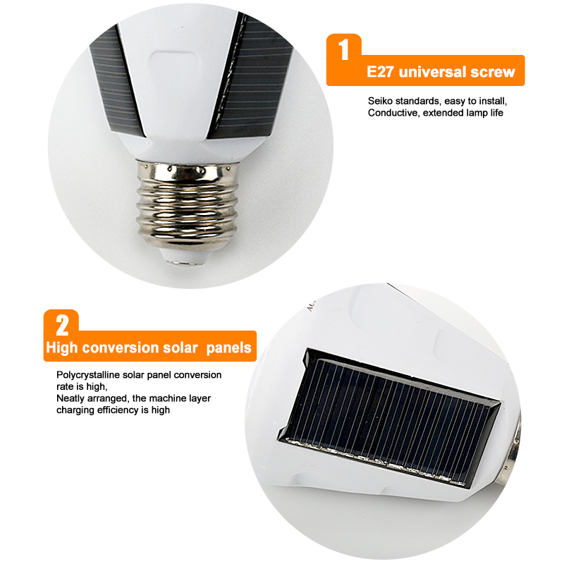 cheapest Waterproof Solar Bulb 7W 12W 85-265V Rechargeable Solar Lamp Portable E27 Led Bulb Light Energy Camping Hiking Outdoor Light