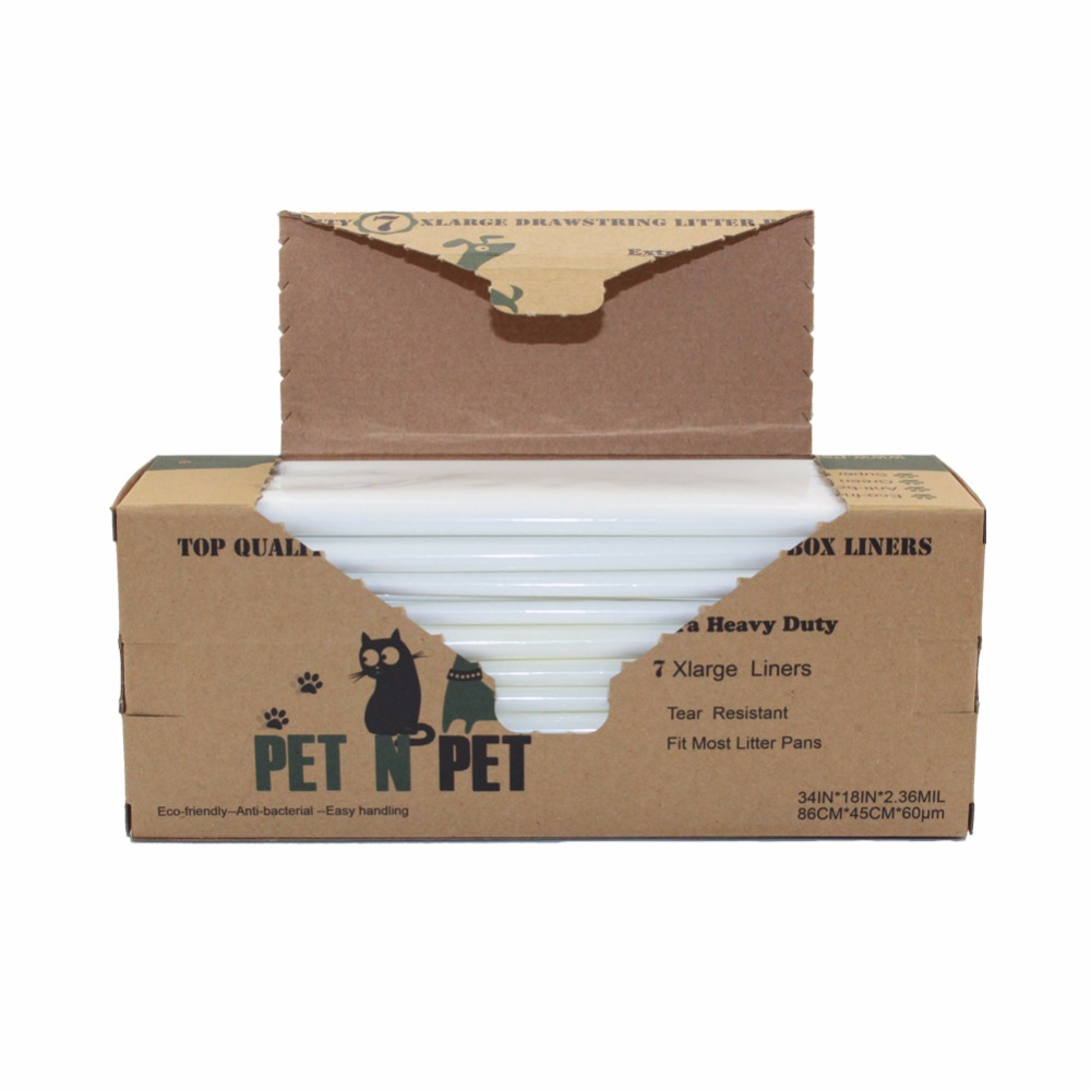 PET N PET Extra Heavy Duty Cat Litter Box Liners,Anti-Microbial, Jumbo Size, Two Pack 14-Counts