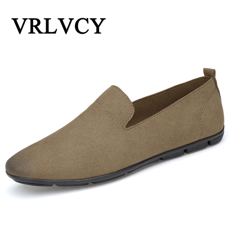 Men Casual Shoes Cow Suede Leather Loafers Leather Driving Moccasins Slip On Shoes Men Comfortable And Breathable men s crocodile emboss leather penny loafers slip on boat shoes breathable driving shoes business casual velet loafers shoes men