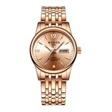 Rose Gold Top Brand Fashion 2019 Luxury Women Watch Dress Ladies Wristwatch Stainless Steel Week Date Quartz Clock Female Watch