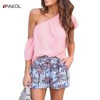 Bts Vancol 2017 Verão chiffon Mulheres camiseta fora do ombro lace up outono primavera Roupas maravilha t-shirt mulheres safra do tumblr top