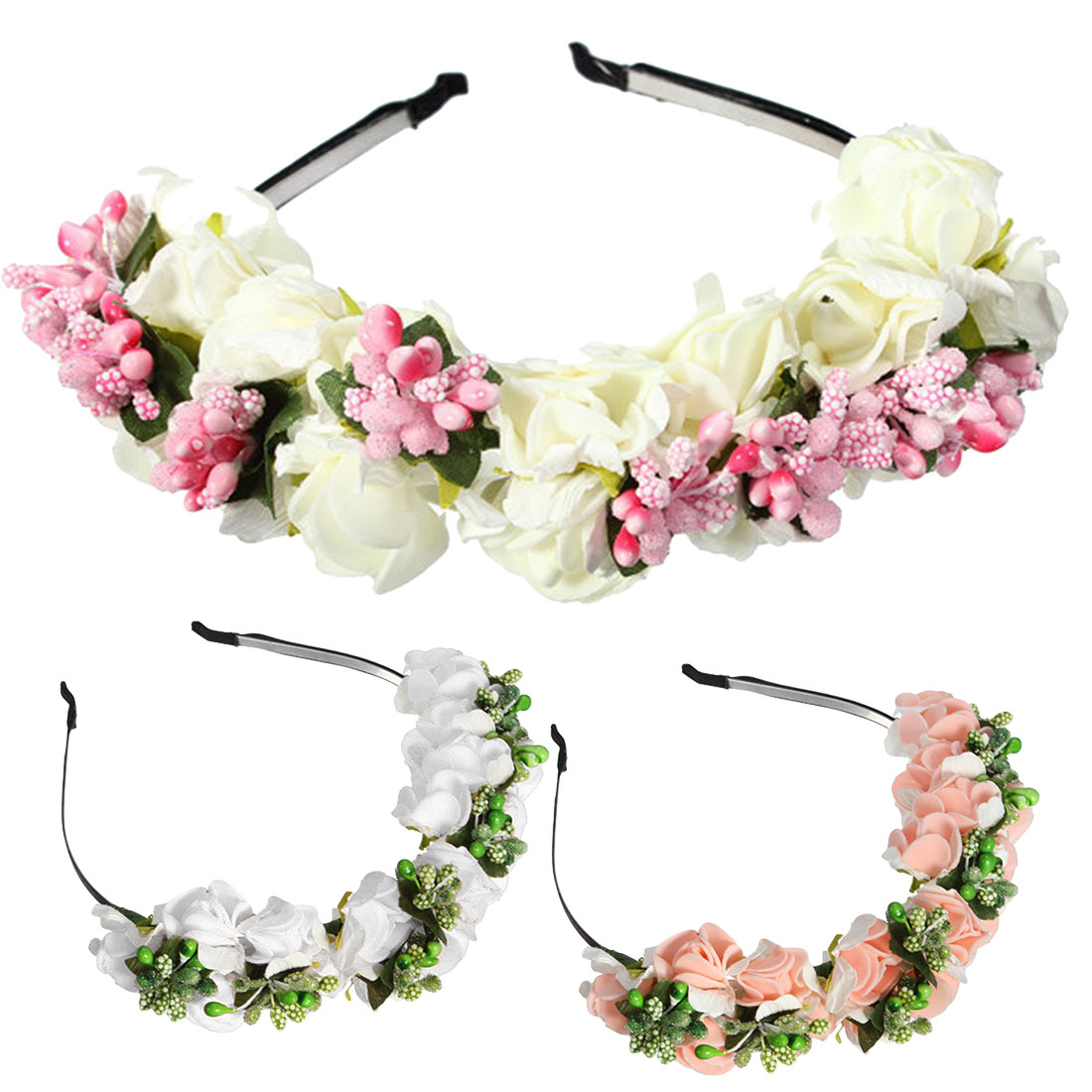 2018 Women Flower Hairbands Wedding Party Floral Headbands For Girls