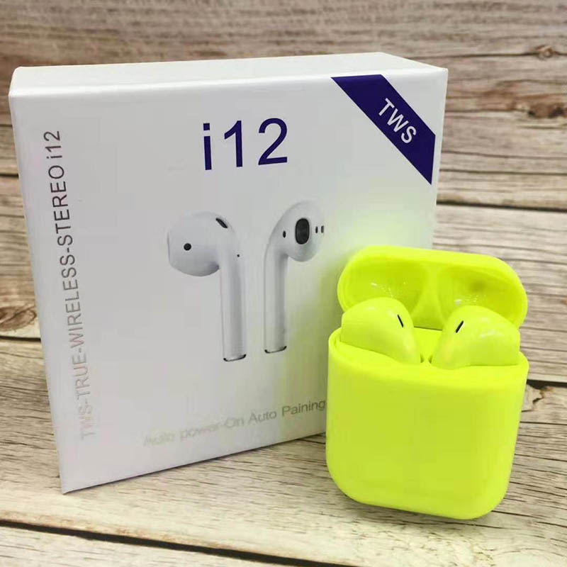 i12 Sugar Color Touch Control Bluetooth Earphones For iPhone And Android 7
