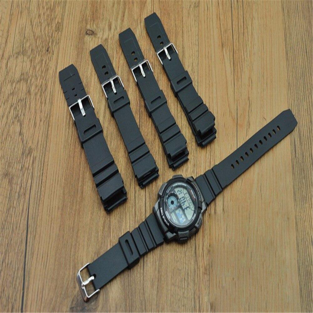 Jeathus Watchband For Casio G Shock Gw M5610 Dw 6900 M5600 Ae 1000w 1a Manamp039s Watch Waterproof Sports Electronic Remplacement Noir Silicone En Caoutchouc Sport Hommes Plonge Montre Bracelet Sangle Pour