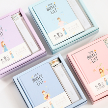 2019 Korean Kawaii 100 Bucket Wish List Plan To Do List Cute Flower Colorful Boxed Daily Planner A5 School Stationary