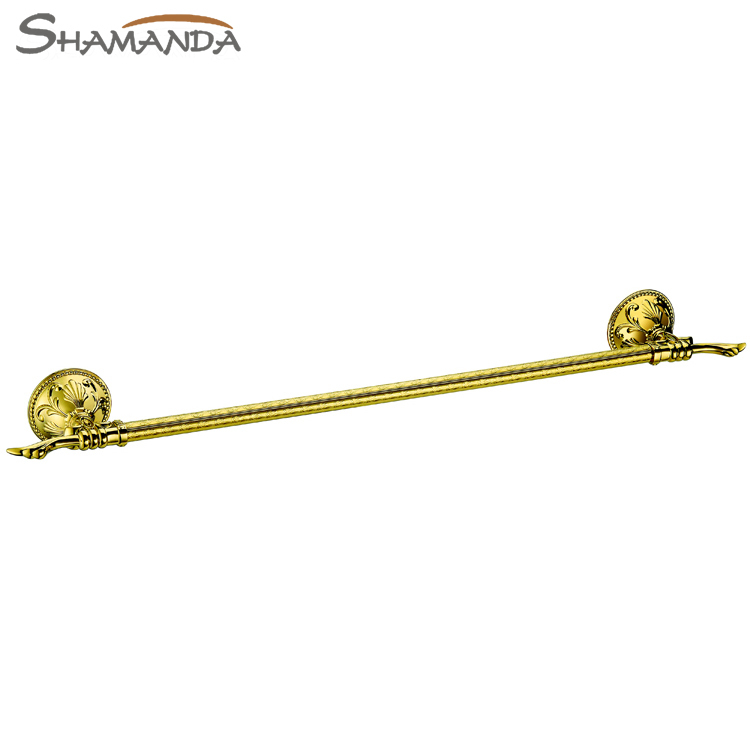 все цены на Free Shipping-Bathroom Accessories Products Luxurious Gold Single Tower Bar Titanium Golden Towel Rack ,Towel Holder-66008G