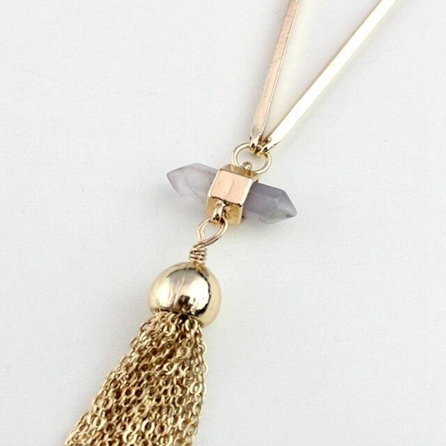 chicvie ожерелье золотого цвета с кристаллами воротник длинные фотография