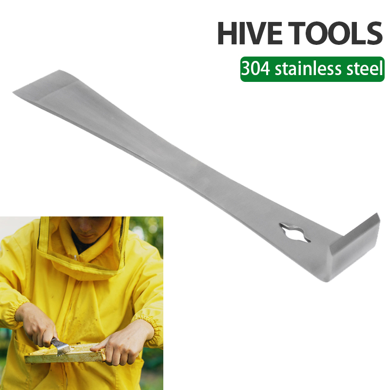 Bee Hive Scraper Frame Cleaning Tool Stainless Steel J Hook Bee Uncapping Beekeeping Equipment Beehive Beekeeper